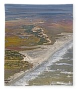 East Coast Aerial Near Jekyll Island Fleece Blanket