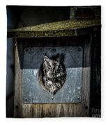 Eastern Screech Owl  Fleece Blanket