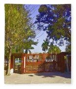 Entrance Gate Of Humayuns Tomb In Delhi  Fleece Blanket