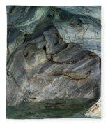 Eroded Marble Shoreline Fleece Blanket