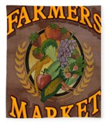 Farmers Market Fleece Blanket
