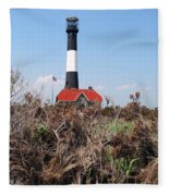 Fire Island Lighthouse Fleece Blanket
