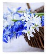 First Spring Flowers Fleece Blanket