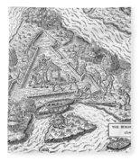 Fort Caroline, 1564 Fleece Blanket