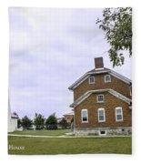 Fort Gratiot Light House Fleece Blanket