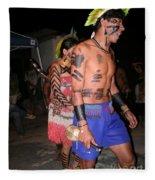 Fulnio Indians Of Brazil Fleece Blanket
