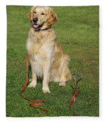 Golden Retriever Dog Fleece Blanket