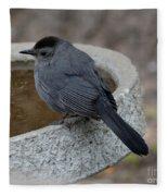 Grey Catbird Fleece Blanket