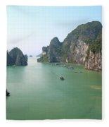 Halong Bay In Vietnam Fleece Blanket