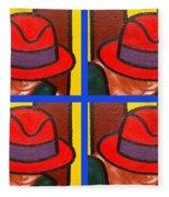 4 Hats Fleece Blanket