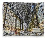 Hays Galleria London Sketch Fleece Blanket