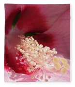 Hibiscus Moscheutos Named Luna Pink Swirl Fleece Blanket