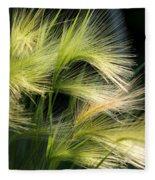Hordeum Jubatum Grass Fleece Blanket