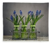 Hyacinth Still Life Fleece Blanket