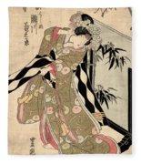 Japan: Tale Of Genji Fleece Blanket