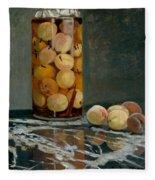 Jar Of Peaches Fleece Blanket