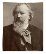 Johannes Brahms (1833-1897) Fleece Blanket