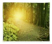 Jungle Light Fleece Blanket