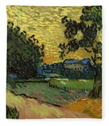 Landscape At Twilight Fleece Blanket
