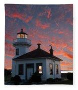Lighthouse Fleece Blanket