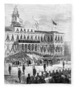 Lincoln's Funeral, 1865 Fleece Blanket