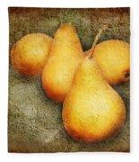 4 Little Pears Are We Fleece Blanket