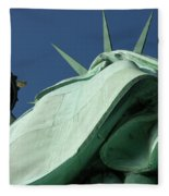 Low Angle View Of Statue Of Liberty Fleece Blanket