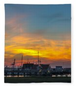 Harbor Lowcountry Sunset Fleece Blanket