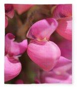 Lupine Named Gallery Pink Fleece Blanket