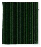 Matrix Green Fleece Blanket
