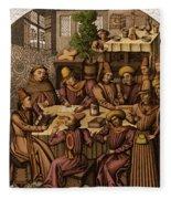 Medieval Accountants, 1466 Fleece Blanket