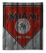Miami Marlins Fleece Blanket