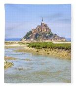 Mont Saint-michel - Normandy Fleece Blanket