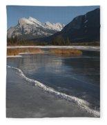 Mt. Rundle And Vermillion Lake Fleece Blanket
