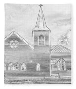 Norwegian Church Cardiff Bay Fleece Blanket