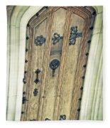Old Door Fleece Blanket
