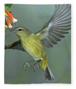 Orange-crowned Warbler Fleece Blanket