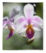 Orchids Dance Fleece Blanket