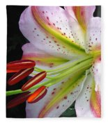 Oriental Lily Hybrid Named Mojave Fleece Blanket