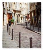 Paris Street Fleece Blanket