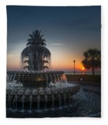 Charleston Sunrise  Fleece Blanket