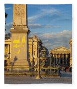 Place De La Concorde Fleece Blanket