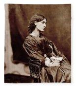 Portrait Of Jane Morris Fleece Blanket