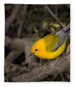 Prothonotary Warbler Fleece Blanket