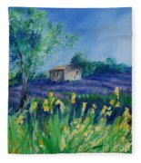 Provence Lavender Field Fleece Blanket