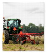 Raking Hay Fleece Blanket
