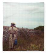 Refugee Girl Fleece Blanket