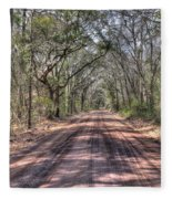 Road To Angel Oak Fleece Blanket