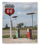 Route 66 - Adrian Texas Fleece Blanket