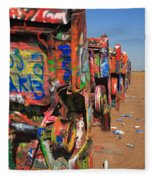 Route 66 - Cadillac Ranch Fleece Blanket